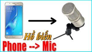 Cách dùng điện thoại làm Mic thu âm cho máy tính – How to use your phone as Microphone