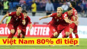 Máy tính dự đoán Việt Nam có gần 80% cơ hội đi tiếp vào vòng loại thứ 3 World Cup