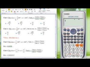 Hướng dẫn tính giá trị biểu thức lượng giác bằng máy tính casio 570 VN plus
