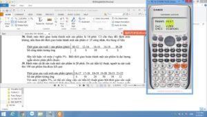 Hướng dẫn sử dụng máy tính CASIO FX 570 VN Plus tính toán các tham số đặc trưng trong Toán thống kê