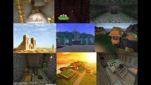 Cách dùng lệnh để tìm 11 Kì Quan Trong Minecraft (Dân làng,Stronghold, Temple Jungle, Temple Jungle)