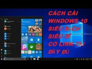 Hướng Dẫn Chi Tiết Cách Cài Win 10 Full Không Cần Usb | Có Link Tải Windows 10 Pro Đầy Đủ