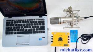 Kết nối sound card k10 2020 với máy tính win 10